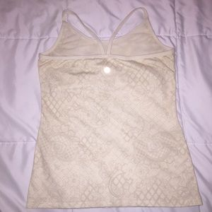 Lululemon Cream Power Y Tank